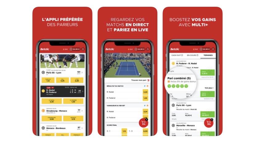sportifs Betclic app