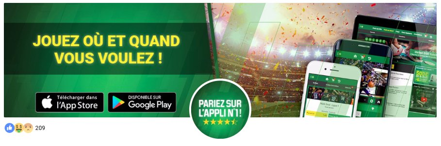 application Unibet android