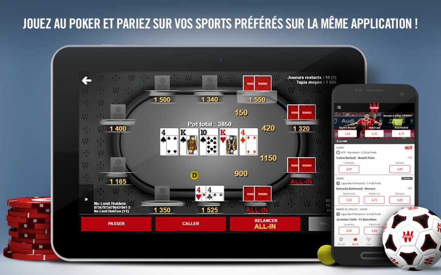 Winamax application poker